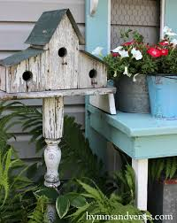 outdoor decor potting bench hymns and verses
