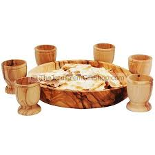 lord s supper plates lord s supper communion bread plate six olive wood cups holy
