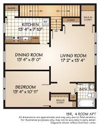 Dining Room Floor Plans by Apartments For Rent In Parsippany Nj Colonial Heights