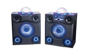 ion bluetooth speaker with lights mega party express big wireless sound with bright party lights