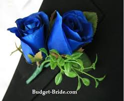 blue boutonniere royal blue boutonniere