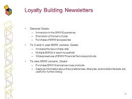 bmw financial services number 1 integrating all direct marketing channels to build customer