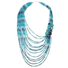 crystal design necklace images Breathtaking crystal and stone cascade statement necklace aeravida jpg