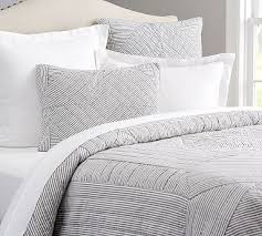 Black And White King Bedding Black And White Bedding Pottery Barn