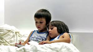 First Night Bedroom Videos Siblings Playing Game In Bedroom At Home Stock Footage