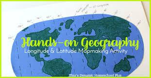 latitude map hands on geography longitude latitude mapmaking activity