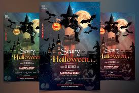 scary halloween psd flyer template flyer templates creative