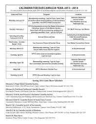 Resume For Lifeguard January 2014 Newsletter San Francisco Peninsula Camellia Society