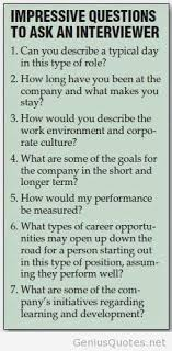 Great Questions To Ask A Great Questions To Ask The Interviewer During A