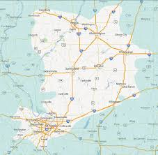 St Louis Metro Map by Puritan Springs Water St Louis Illinois