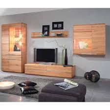 Wohnzimmerschrank Massivholz Wohnzimmer Wohnwand Aus Kernbuche Massivholz Weiße Beleuchtung 4