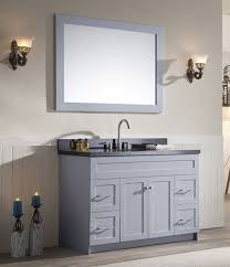 ariel hamlet single 49 inch transitional bathroom vanity set grey