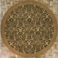 4x4 Area Rugs Handmade Circular Modern Style Area Rug In Olive With Green