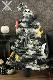 nightmare before christmas tinsel halloween tree with purple