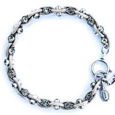 silver rope chain bracelet images Catherine popesco black diamond crystal and silver rope chain bracelet jpg