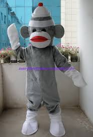 sock monkey costume new arrival 2017 character professional new grey sock monkey