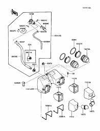 kawasaki en450 a5 parts list and diagram 1989