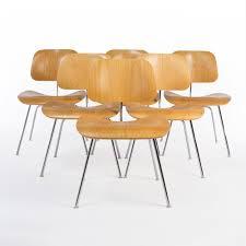 group of 6 x herman miller vintage original molded plywood dcm