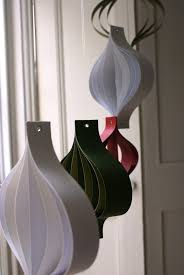 paper decorations large white and green hanging