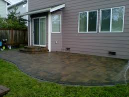 camino stone patio in jamestown blend w charcoal border