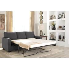 queen sofa sleeper with memory foam mattress by signature design