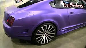matte purple bentley gt coupe on 22
