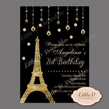 Sweet 16 Photo Invitation Cards Paris Eiffel Tower 21st Birthday Invitation Sweet 16 Birthday