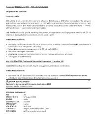 Senior Hr Manager Resume Sample Sample Resume Format For Hr Executive U2013 Topshoppingnetwork Com