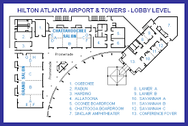 Atlanta Airport Floor Plan Lobby Level Floor Map