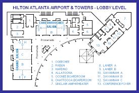 atlanta airport floor plan lobby level floor map
