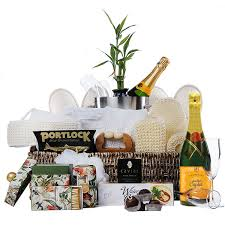 Champagne Gift Basket The Works Spa And Champagne Gift Basket With All The Extras