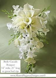 Cascade Bouquet White Offwhite Ivory Cascade By Sharon Nagassar Designs On Zibbet