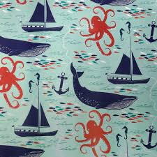 octopus wrapping paper nautical wrapping paper 1 roll gift wrap by dandelionpaper