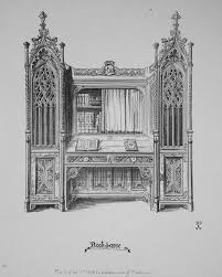 Awn Books Design For A Book Case From Gothic Furniture Of The 15th Century