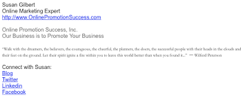 how to set up a professional email signature in gmail susan