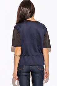 shop sequin snake animal print navy blue color block short sleeve