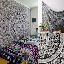 Wall Tapestry Hippie Bedroom High Quality 145x210cm Indian Tapestry Wall Hanging Mandala Throw