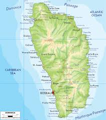Physical Maps Map Of Dominica