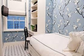design ideas cherry blossom wallpaper in a small bedroom the