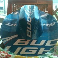 bud light beer hat this cowboy hat is made from a bud light beer box you can get them