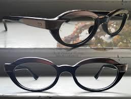 vintage champagne glasses browline ovals retro focus eyewear