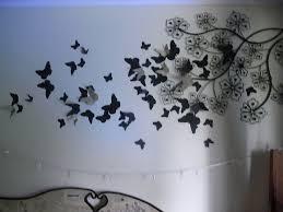 3d Bedroom Wall Paintings Diy 3d Wall Art Butterflies Wallartideas Info