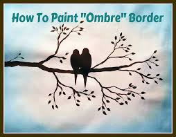 birds on a branch paint class preview