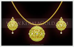 gold jewelry designs necklace images Kerala gold jewellery design pendant 18 jpg