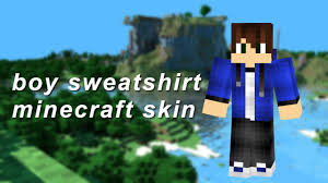 boy sweatshirt minecraft skin youtube