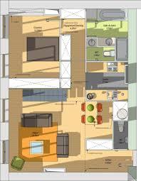 plan salon cuisine sejour salle manger plan de cuisine ouverte sur salle manger modele cuisine ouverte