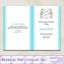 Beach Wedding Program Templates Wedding Design Images Gallery Category Page 23 Designtos Com