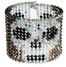 skull crystal bracelet images Crystal skull earrings designer skull jewelry karen curtis nyc jpg