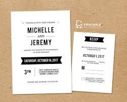 printable wedding invitation kits clean fonts printable wedding invitation template and rsvp