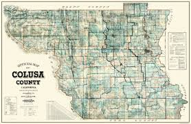 Princeton Map Old County Map Colusa California Landowner 1915